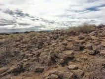 Старые руины Tsankawe Неш-Мексико стоковая фотография