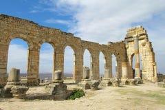 Старые руины, Volubilis, Марокко Стоковые Изображения RF