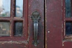 Старые ручки двери китайского стиля Стоковое Изображение RF