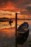 Старые рыбацкие лодки 2 шлюпки Стоковые Фотографии RF