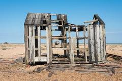 Старые сарай и шлюпка Стоковая Фотография