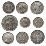 Старые серебряные монеты Стоковое Фото