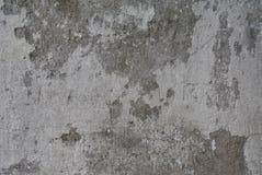 Старые серые бетонная стена и гипсолит остаются на ем стоковое фото