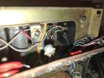 Старые сетноые-аналогов электронные доска и компоненты ТВ трубки Стоковое Фото