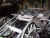 Старые сельские русские тележки Стоковое фото RF