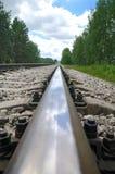 старые следы стали железной дороги Стоковое Изображение