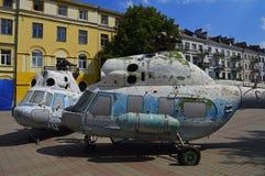 Старые советские elicopters Mi-2 Стоковая Фотография