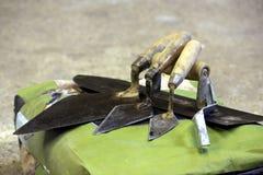 Старые соколки bricklaying Стоковое фото RF