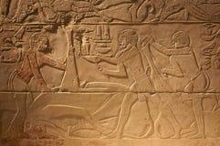 Старые сочинительства Египета стародедовские на камне Стоковая Фотография