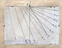 Старые солнечные часы мрамора Стоковые Изображения RF