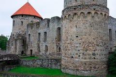 Старые средневековые башни замка Стоковые Изображения RF