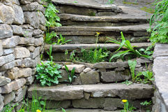Старые средневековые шаги Стоковое фото RF