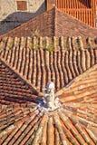 Старые среднеземноморские крыши стиля разделения Стоковая Фотография RF