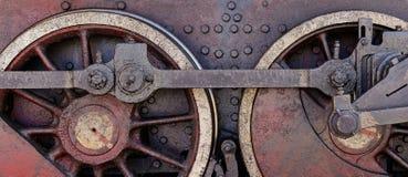 Старые стальные колеса Стоковые Фотографии RF