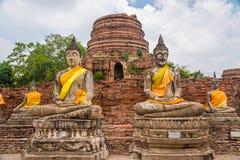 Старые статуи Будды на Ayutthaya Стоковое Изображение