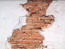 Старые стены треснуты Стоковые Изображения RF