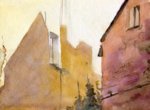 старые стены Стоковое Изображение RF