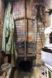 Старые сточные трубы в польском odz  города Å конструкция кирпича Стоковые Изображения
