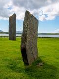 Старые стоящие камни Stenness стоковое изображение