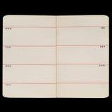 Старые страницы дневника Стоковое фото RF