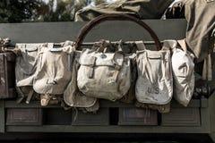 Старые сумки войск США Стоковое Изображение
