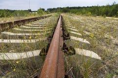 Старые следы железной дороги Стоковая Фотография RF