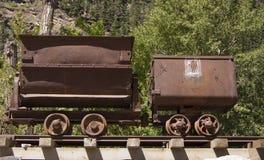 Старые тележки шахты стоковое фото rf