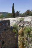 Старые термальные ванны Bagno Vignoni в Тоскане стоковые изображения