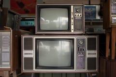 Старые телевидения Стоковые Фото