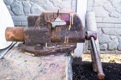 Старые тиски Стоковое Изображение RF