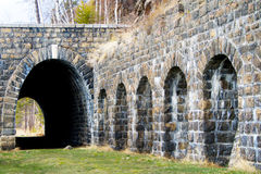 Старые тоннели на железной дороге Байкала Стоковое Фото