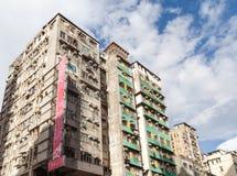 Старые толпить квартиры в Гонконге Стоковое Изображение RF