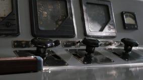 Старые тумблеры на панели Стоковое фото RF