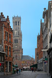 Старые улицы Bruges Стоковое Изображение RF