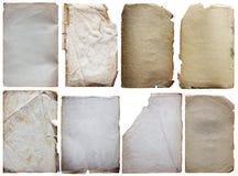 Старые установленные бумаги Стоковые Изображения