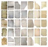 Старые установленные бумаги изолированными Стоковая Фотография RF