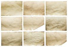 Старые установленные бумаги Стоковое Изображение