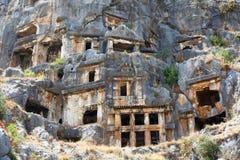 Старые усыпальницы Lycian Стоковая Фотография RF