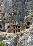 Старые усыпальницы Lycian Стоковые Изображения RF