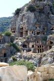 Старые усыпальницы Lycian Стоковое Изображение RF