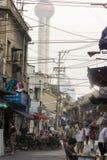 Старые улицы Шанхая стоковые изображения