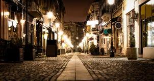 Старые уличные светы городка Стоковое Изображение