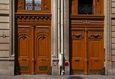 Старые французские двери Стоковое фото RF