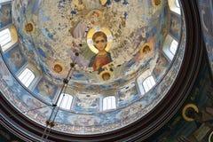 Старые фрески нового монастыря Athos стоковые фото