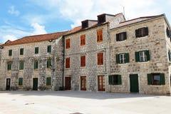 Старые хорватские дома в выпускнике Stari Стоковое фото RF