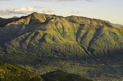 Старые холмы и долины Стоковое Изображение