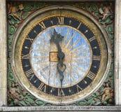 Старые часы в Таллине Стоковая Фотография