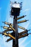 Старые часы городка Стоковые Фотографии RF