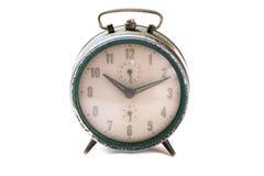 Старые часы на белой предпосылке Стоковая Фотография RF