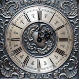 Старые часы показывая время на временя Стоковое Изображение